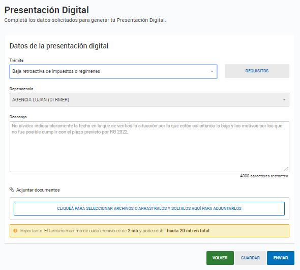 Presentaciones digitales: carga de datos